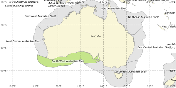 Southwest Australia Map.Southwest Australian Shelf One Shared Ocean